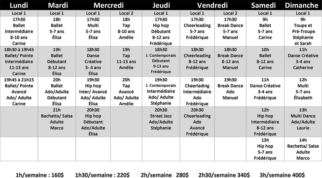 Cours de danse - Automne 2020 - Repentigny