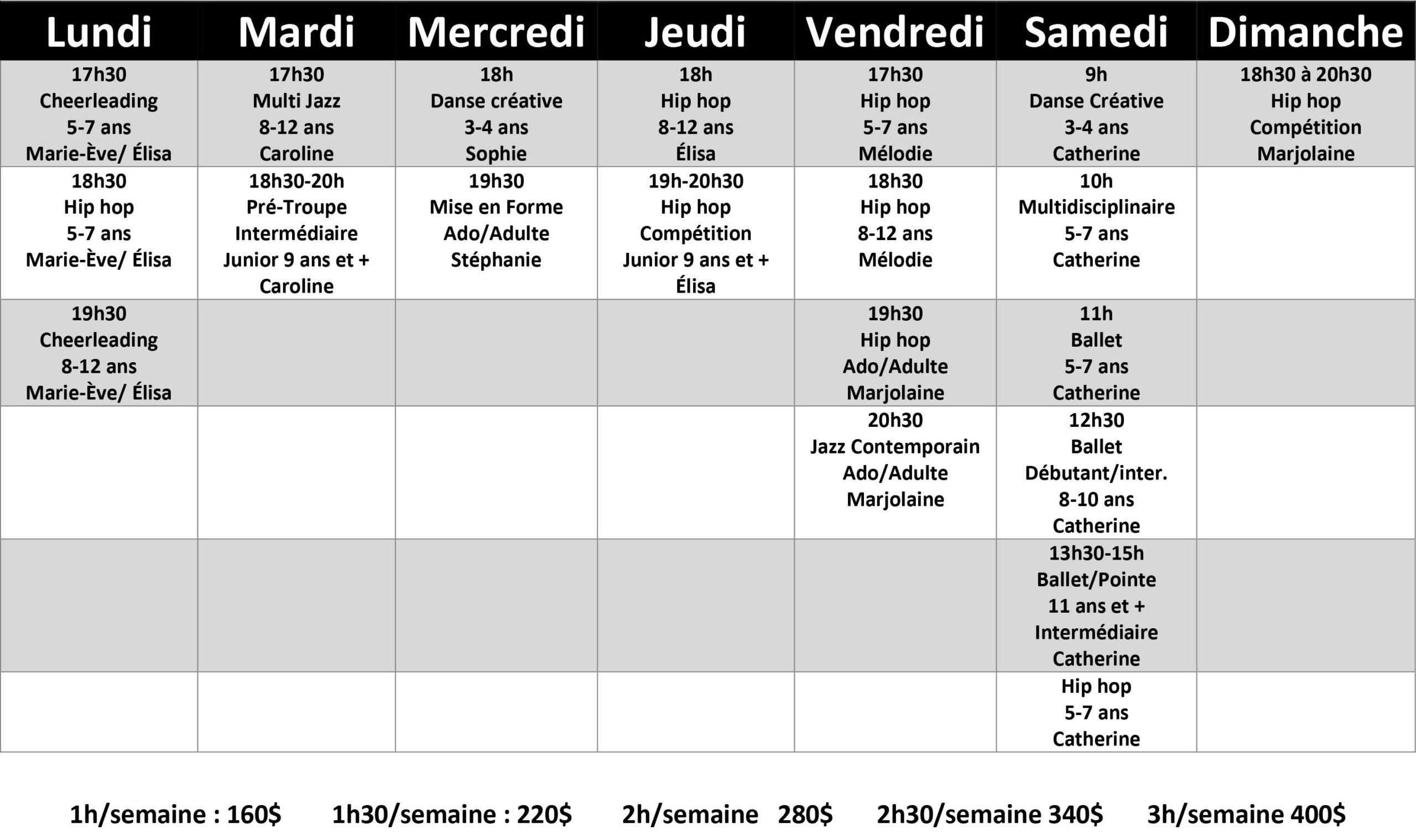 Cours de danse à Lavaltrie - automne 2021