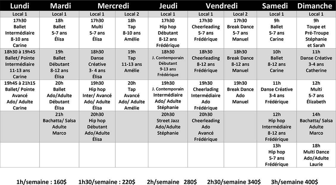 Cours de danse à Repentigny - automne 2021